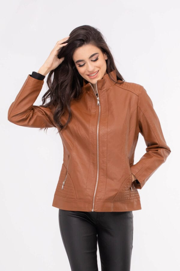 JACKET ΔΕΡΜΑΤΙΝΗ ECO LEATHER ΤΑΜΠΑ